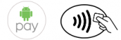 android pay logo and contactless payment symbol