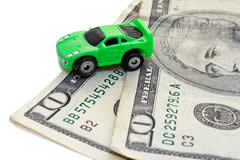 image of toy car on cash